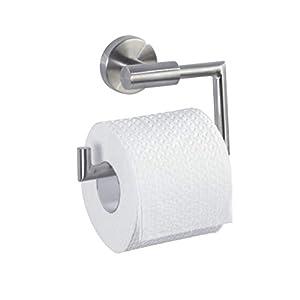 WENKO 19612100 WC-Rollenhalter ohne Deckel Bosio, Edelstahl rostfrei, 15 x 10.5 x 6.5 cm, Matt