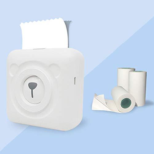 Druckaufkleber Papier Fotopapier für Mini Pocket Foto Drucker Rechnungen Quittungen Papiere 3 Rollen selbstklebend Etikett Foto Sticker Thermodruckpapier für Peripage