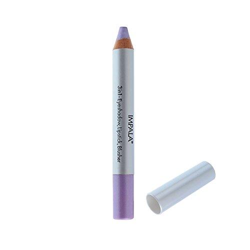 Impala Crayon Exclusif Jumbo 3 en 1 N02 Violet Yeux Lèvres Fard Tenue Longue