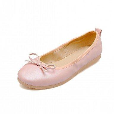 Wuyulunbi@ Scarpe Donna Primavera Autunno Comfort Novità luce Appartamenti suole piatte rotonde Bowknot di punta per abbigliamento casual Rosa Blu Bianco US5.5 / EU36 / UK3.5 / CN35