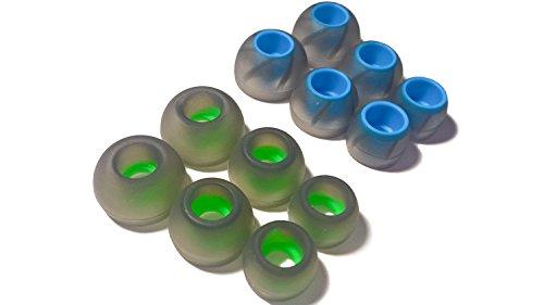 TCM Tornado Buds {2X S M L} ♫ 6 Paar (12 Stück) Silikon Ohrpolster ♫ Gummi ersatz Buds für InEar Kopfhörer. Reduziert Geräusche & Verbessert Klang. Interne Größe {4-7mm} von The Case Market -