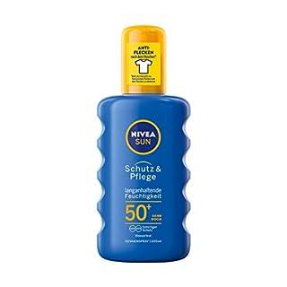 NIVEA SUN Sonnenspray mit verbesserter Formel, Lichtschutzfaktor 50+, 200 ml Sprühflasche, Schutz & Pflege