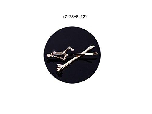 Elegante Set di clip di capelli Twelve Constellation Diamond Jewelry Side Clip Hairpin (Leo) Gioielli da sposa