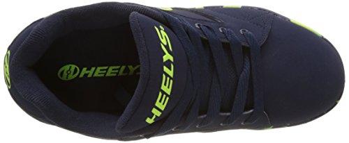 Heelys Propel 2.0, Scarpe da Ginnastica Bambino Blu (Navy / Lime / Confetti)