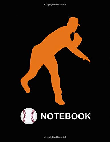 Notebook. For Baseball Fans. Blank Lined Notebook Planner Journal Diary. -