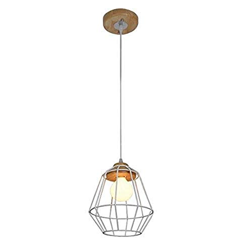 Loft Kronleuchter E27 Vintage Light Wandleuchte Led Lightmetal Basket Cage Pendelleuchte E27 Retro Hängelampe Einbauküche Bar Hotel Esszimmer Cafe Flur-Weiß