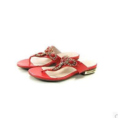 LQXZM La femme Printemps sandales talon plat décontracté PU Confort Ruby