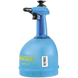 matabi Berry 1, 5 Pulverizador de Presión Previa con Boquilla Conica Regulable y Deposito Translucido, 1.5 litros Capacidad Total, Azul 1.5