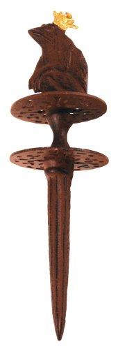 2 Stück Esschert Design Gartenschlauchführung, Schlauchführung Motiv Froschkönig mit Erdspieß aus Gusseisen, ca. 10 cm x 10 cm x 33 cm