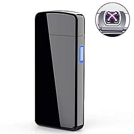 AngLink Accendino Elettrico, Accendino Dual Arco Elettronico Ricaricabile Tramite USB, Antivento Senza Combustione Lunga…