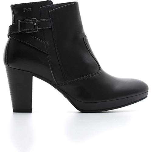 Nero giardini donna tronchetto nero a806302 scarpe in pelle autunno inverno 2019, eu 36