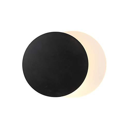 QLG&S Eclipse-Nachtwandleuchte, Moderne unbedeutende kreative runde LED-Gang-Treppen-Hintergrund-Wandleuchte-Nachtleselampe -