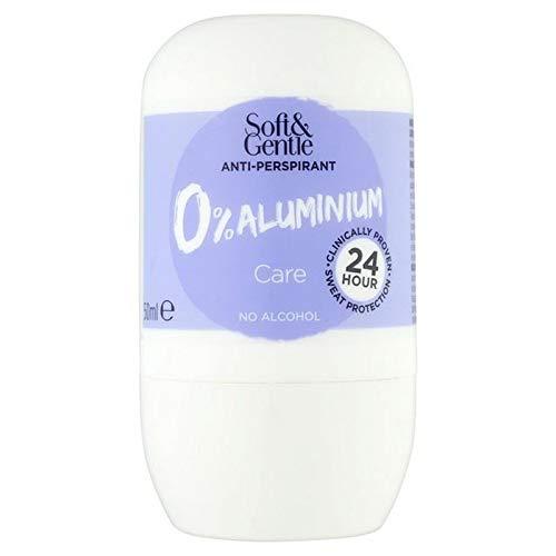 6x Doux Pour Le 0% Rouleau De Soins D'Aluminium Sur 50 Ml Déodorant Anti-Transpirant