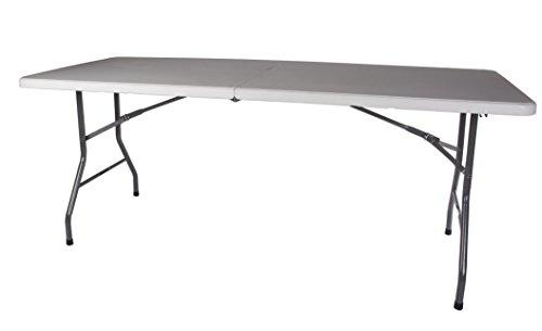 StanSport zusammenklappbar Camp Tisch, weiß, 72 x 29 x 29-Inch