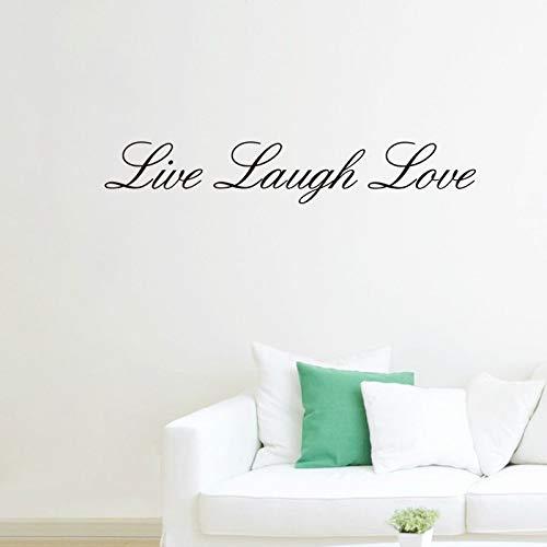 XCGZ Stickers muraux Vivre Rire Amour Citations Stickers Muraux Salon Chambre Stickers Muraux Amovibles
