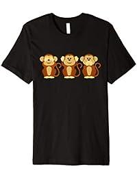 Wolkenbruch® T-Shirt No Evil Nichts hören sehen Gr.M-XXXXL sagen