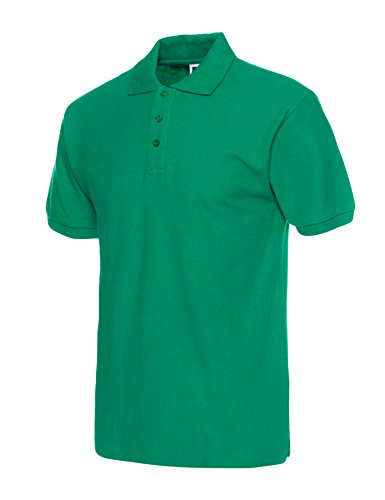 Legou Herren Poloshirt Kurzarm Stehkragen Polohemd Polo T-Shirt Kurzarm Figurbetont Dunkel Grün