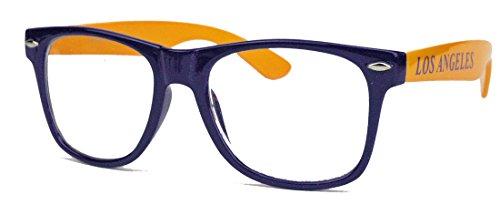 Preisvergleich Produktbild EYECATCHER ! Nerdbrille für Basketball Fans Streberbrille Klarglas (Los Angeles)