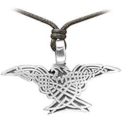Zoelibat 97207841.112-Gothic Punk Colgante, Amuleto keltisch, águila con alas gespreizten, 5x 2.5cm