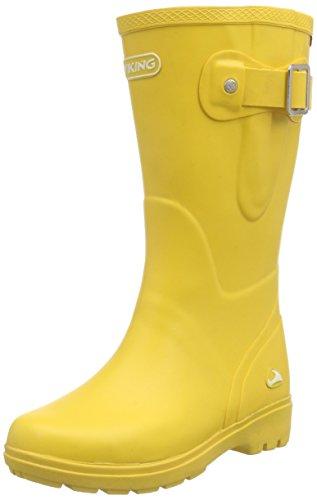 Viking Mira Jr., Bottes en caoutchouc non-fourrées, tige haute fille Jaune - Gelb (Yellow 13)