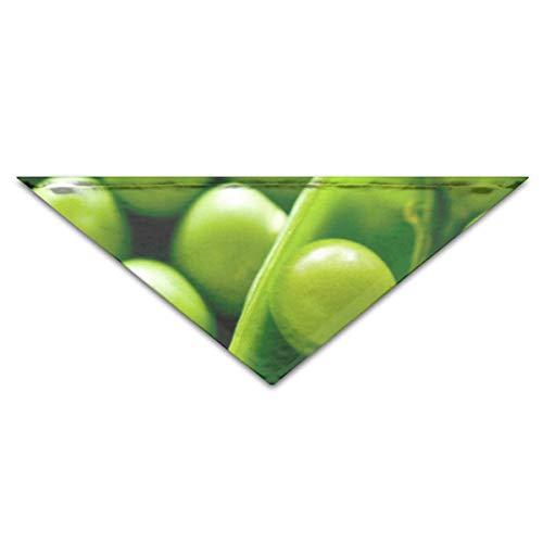 Pet Bandanas Grüne Schnee Erbsen Gemüse Hund Bandanas Schals Dreieck Lätzchen Schals Neuheit Basic Dogs Halstuch Cat Collars (Grüne Erbse Kostüm)