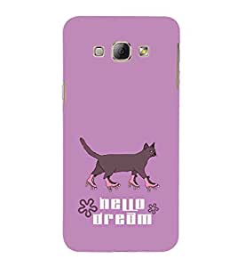 EPICCASE Hello Dream Mobile Back Case Cover For Samsung Galaxy A8 (Designer Case)