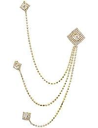 I Jewels Gold Plated Designer Brooch for Men (SM38)