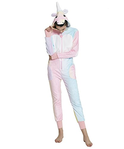 men Luxus Rainbow Flanell Jumpsuit Pyjamas (Small) (Narwal Kostüme)