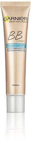 Garnier BB Cream Miracle Skin Perfector / getönte Tagescreme 5 in 1 mit Matt-Effekt, Ölfrei / Farbe: Mittel bis Dunkel / für fettige und Mischhaut, 1er Pack - 40 ml