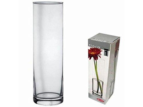 Pasabahce 43767 - Flora Jarrón de cristal, cilíndrico, 26,5cm.