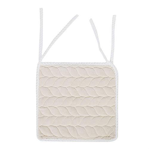 Stuhl kissen pad rutschfeste stuhl sitzkissen pad esszimmer garten terrasse home küche büro 40 * 40 cm(Weiß)
