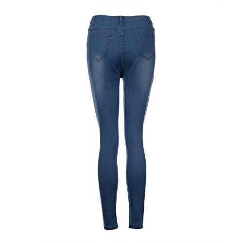★★2017 Ularmo® Femmes Denim Maigre Pantalons déchirés Taille haute Étendue Jeans Svelte Pantalon à Crayons ★★ Bleu