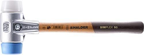 Halder 3117050 Simplex Maillet de Tpe-doux/Plastique super avec Boîtier en Aluminium Multicolore, 50 mm