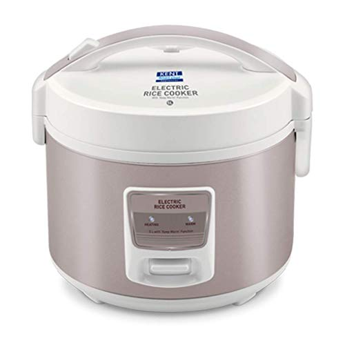 KENT Electric Rice Cooker 5-litres 860-Watt (White and Reddish Grey)