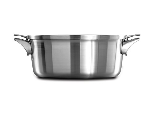 Calphalon Premier Space Saving Stainless Steel 8.5qt Dutch Oven with Cover Calphalon Cover