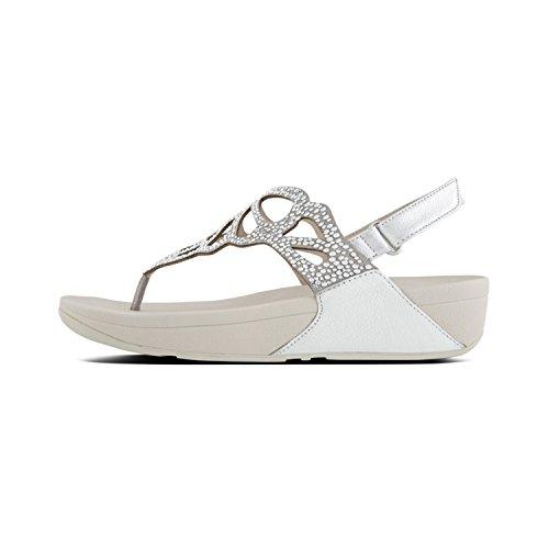 Fit Flop Bumble Crystal Tm Sandal, Infradito Donna, Argento (Silver 011), 38 EU