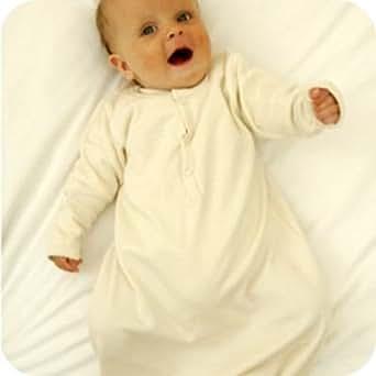 Organic Baby sleep gown, natural, Frugi