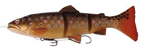 Savage Gear 3D Line Thru Trout Gummifisch Forelle, Kunstköder für Hecht, Zander, Waller, Angelköder zum Spinnfischen und Schleppangeln, Hechtköder, Zanderköder, Wallerköder, Welsköder, Forellenköder, Gummiforelle, Gummiköder, Farbe:Dark Brown Rainbow;Länge / Gewicht /Schwimmverhalten:30cm / 290g/ langsam sinkend