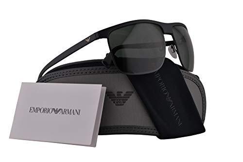 Emporio Armani Männer EA4108 Sonnenbrille w/Grün-Objektiv 60mm 504271 EA 4108 Matt-schwarz groß