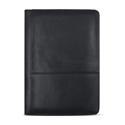 Carpeta Cremallera,Portafolios de Conferencia Portafolio de Cuero Genuino Portafolios Profesional A5 Para Viajes de Negocios Reuniones Entrevistas Para iPad de Hasta 9.7 Pulgadas