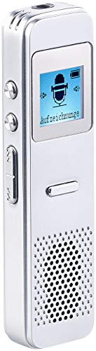 auvisio Voice Recorder: Digitales Diktiergerät, VOX-Funktion, Audio-Player, Lautsprecher, 8 GB (Hand Diktiergerät mit Lautsprecher)