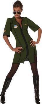 Flugzeug-Pilotin Kostüm für (Hohe Halloween Stiefel Oberschenkel)