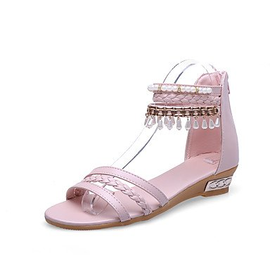 LvYuan Da donna-Sandali-Tempo libero Formale Casual-Club Shoes-Piatto-PU (Poliuretano)-Blu Rosa Beige Blue