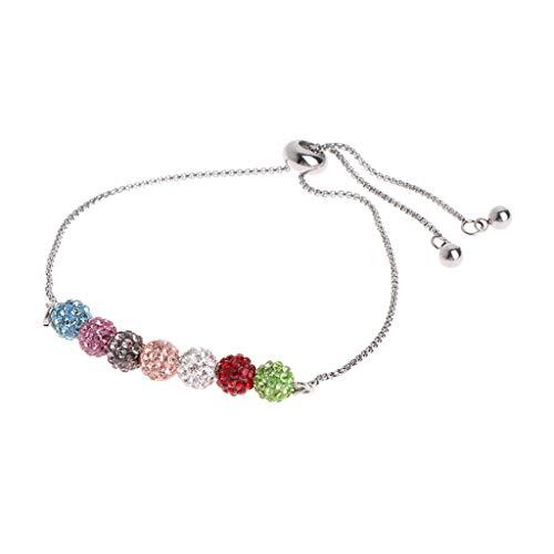 Chenpaif bracciale in acciaio inossidabile con braccialetti colorati con strass colorati