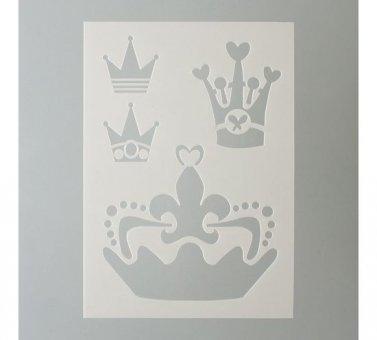 EFCO Schablone Kronen/4Designs DIN, Kunststoff, transparent, A (Kunststoff Krone)