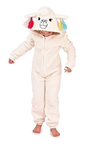 Mädchen Kinder mit Kapuze Einhorn Bademantel Einteiler Kostüm -