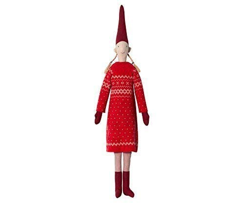 (Maileg-Danish lisvs Pixy 2016-Maxi-Girl (Laura)-Rot Jumper Kleid-65cms)