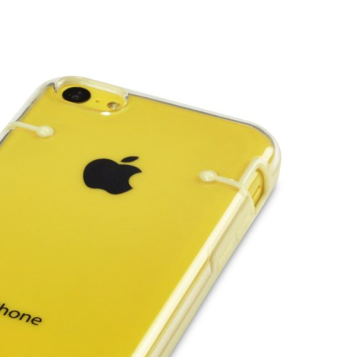 iPhone 5 C Jaune Circuit Étui/Housse/Coque/Shield + Protection d'écran 6 en 1