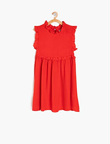 ba98be3f94280 Koton Kız Çocuk Elbise kırmızı (kirmizi 420) 122 (Üretici ölçüsü: 6 ...