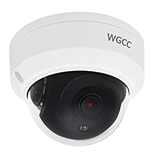 POE IP Camera, WGCC 4MP Home Security Dome Camera with H.265 2.8MM Lens, 98ft IR Night Vision, Motion Detection, Remote Viewing, IP66 Waterproof CCTV Camera For Outdoor and Indoor